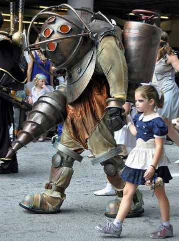 Bioshock Big Daddy and Little Sisters - Halloween Costume Contest at - sisters halloween costume ideas