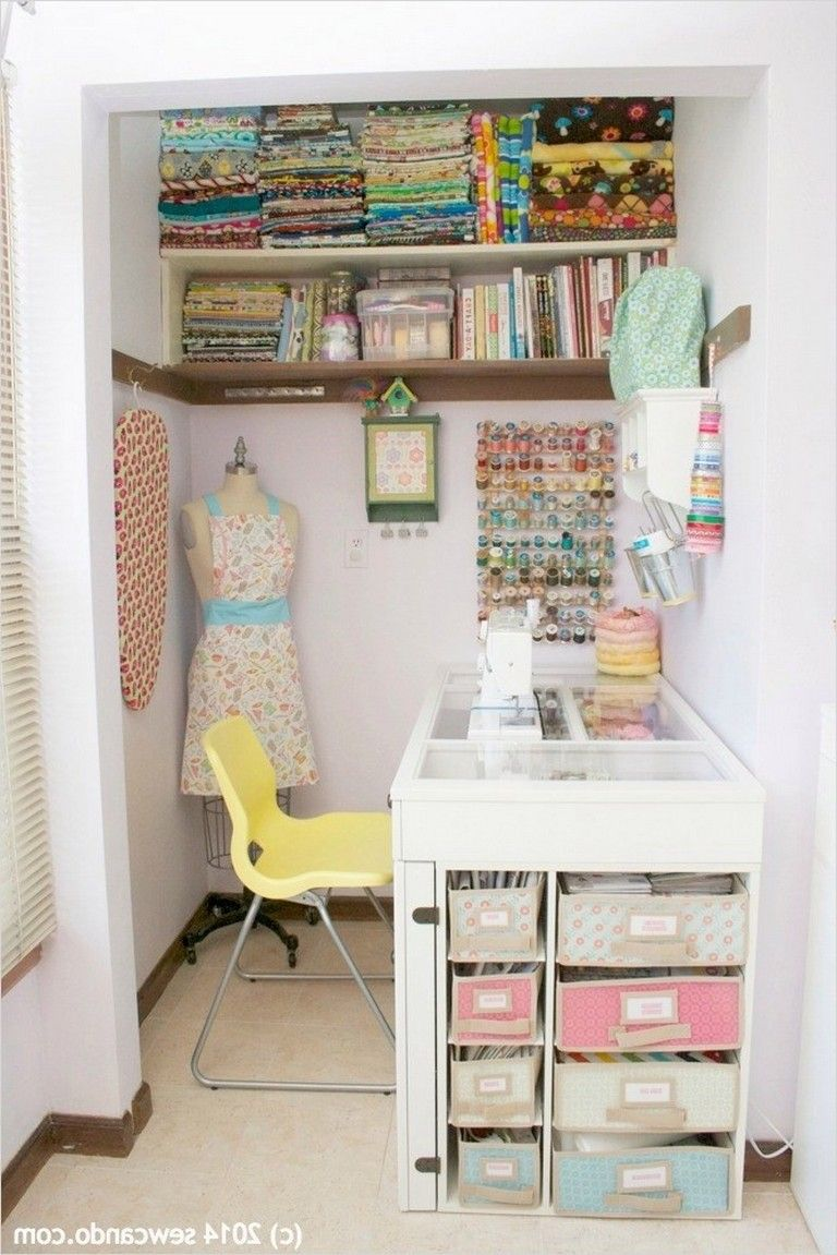 12+ Inspiring Sewing Room Ideas for Small Spaces  Sewing room