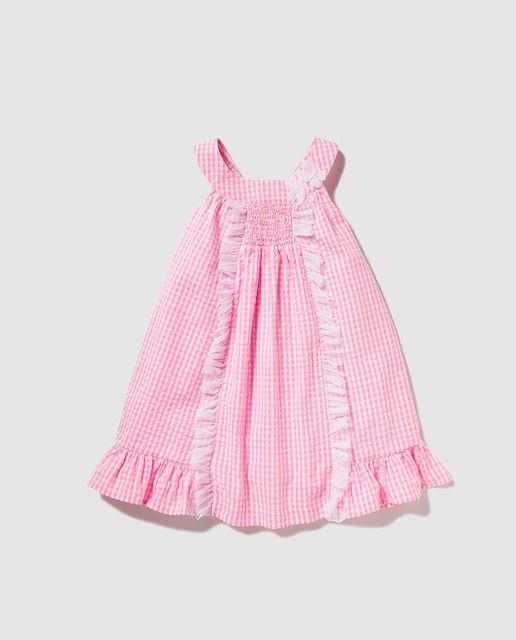 f80272561 Vestido de niña Freestyle de cuadro vichy rosas   SS 2016 KIDS El ...