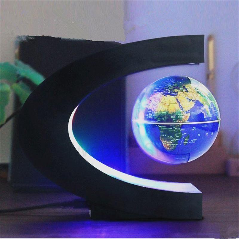 Led Floating Globe Home Decoration Magnetic Levitation Desk Lamp Floating Globe Globe Lamps Levitation