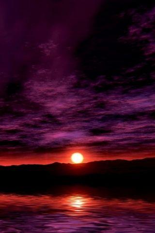 Night Sunset Purple Nature Nature Iphone Wallpaper Iphone Wallpaper Usa Original Iphone Wallpaper