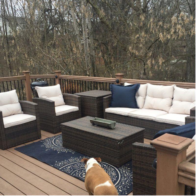 Beachcrest home carlene 6 piece sofa set with cushions