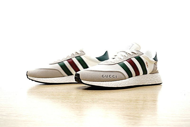 release date dd6c9 62e96 Newest Adidas Running Shoes UK Gucci X adidas Iniki Runner White White  Green Red Khaki