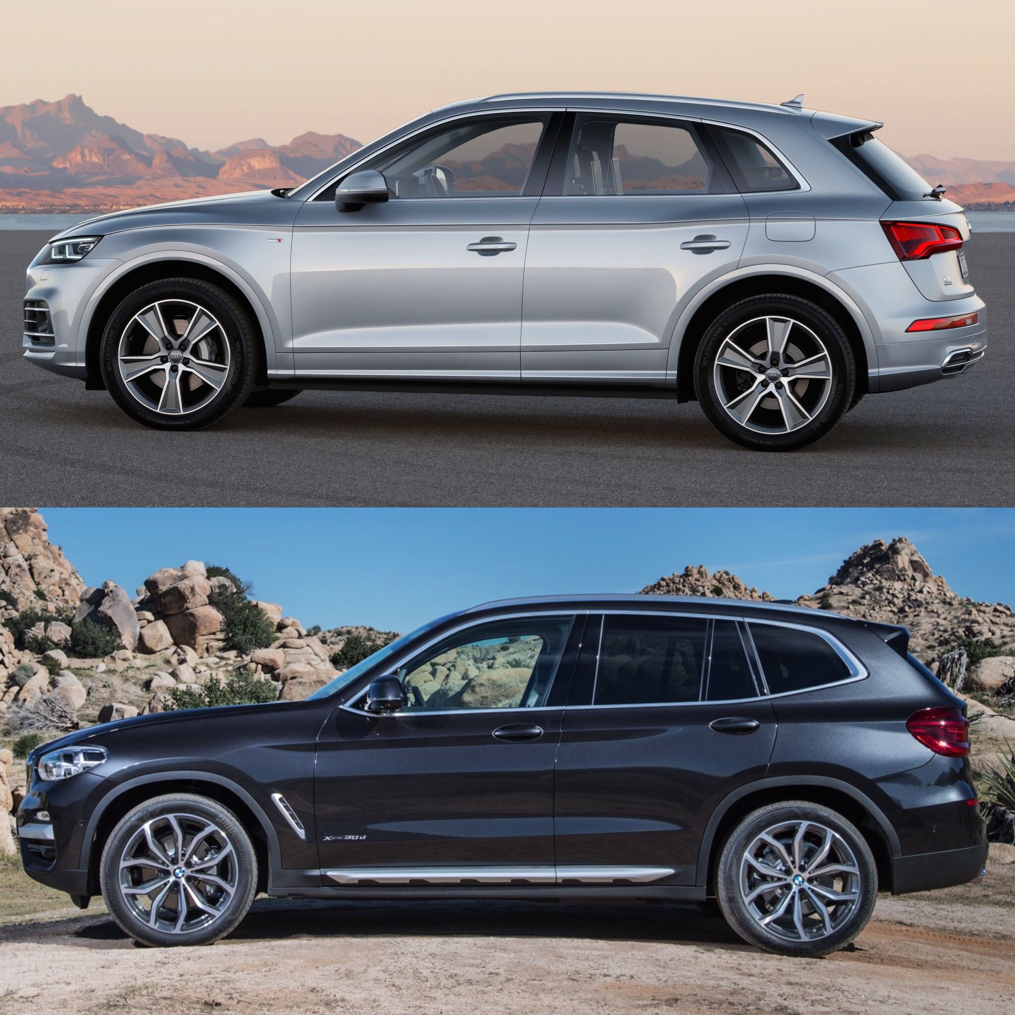 Photo comparison g01 bmw x3 xdrive30ivs audi q5 2 0t http
