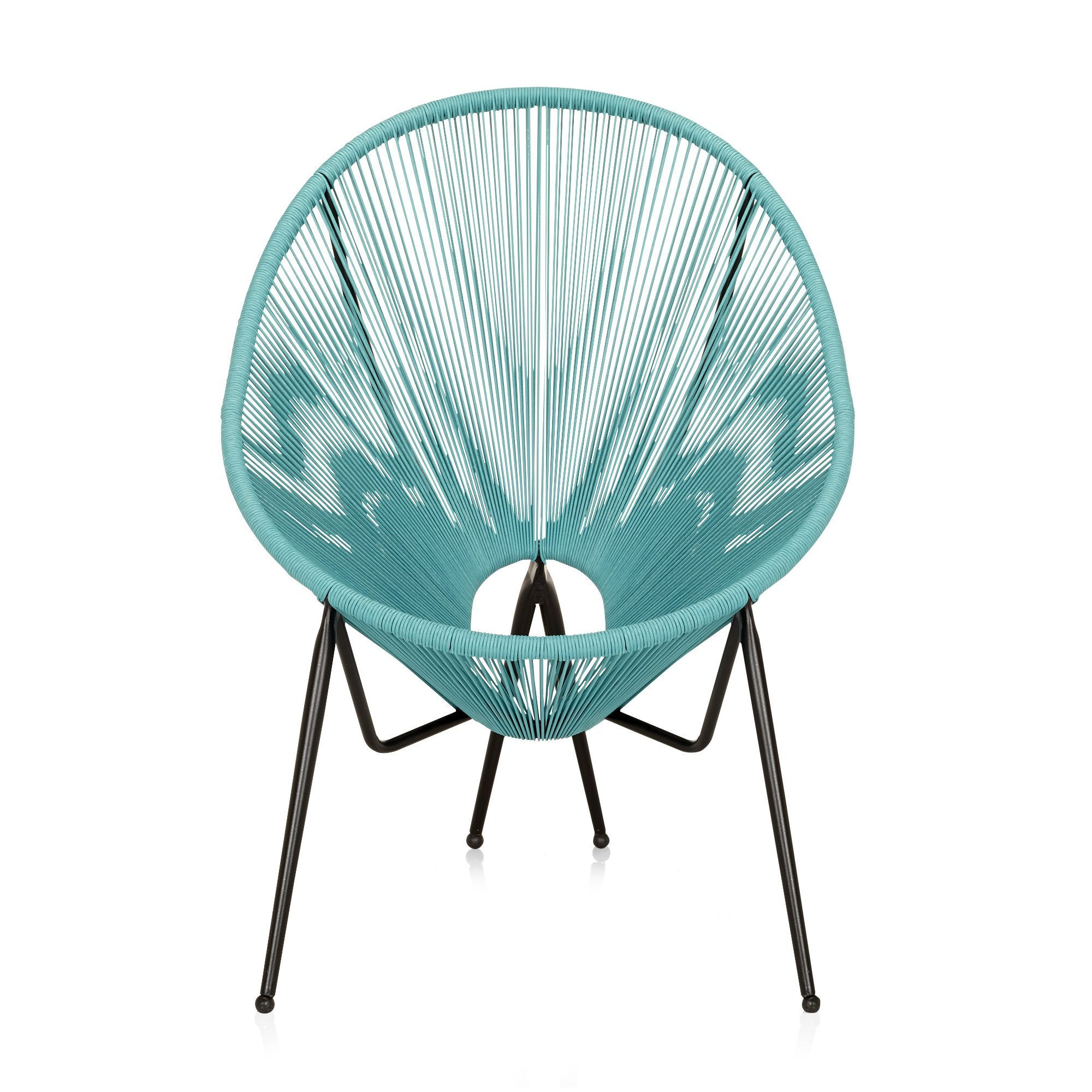 fauteuil de jardin fil scoubidou bleu turquoise kadom les fauteuils de jardin les tables. Black Bedroom Furniture Sets. Home Design Ideas