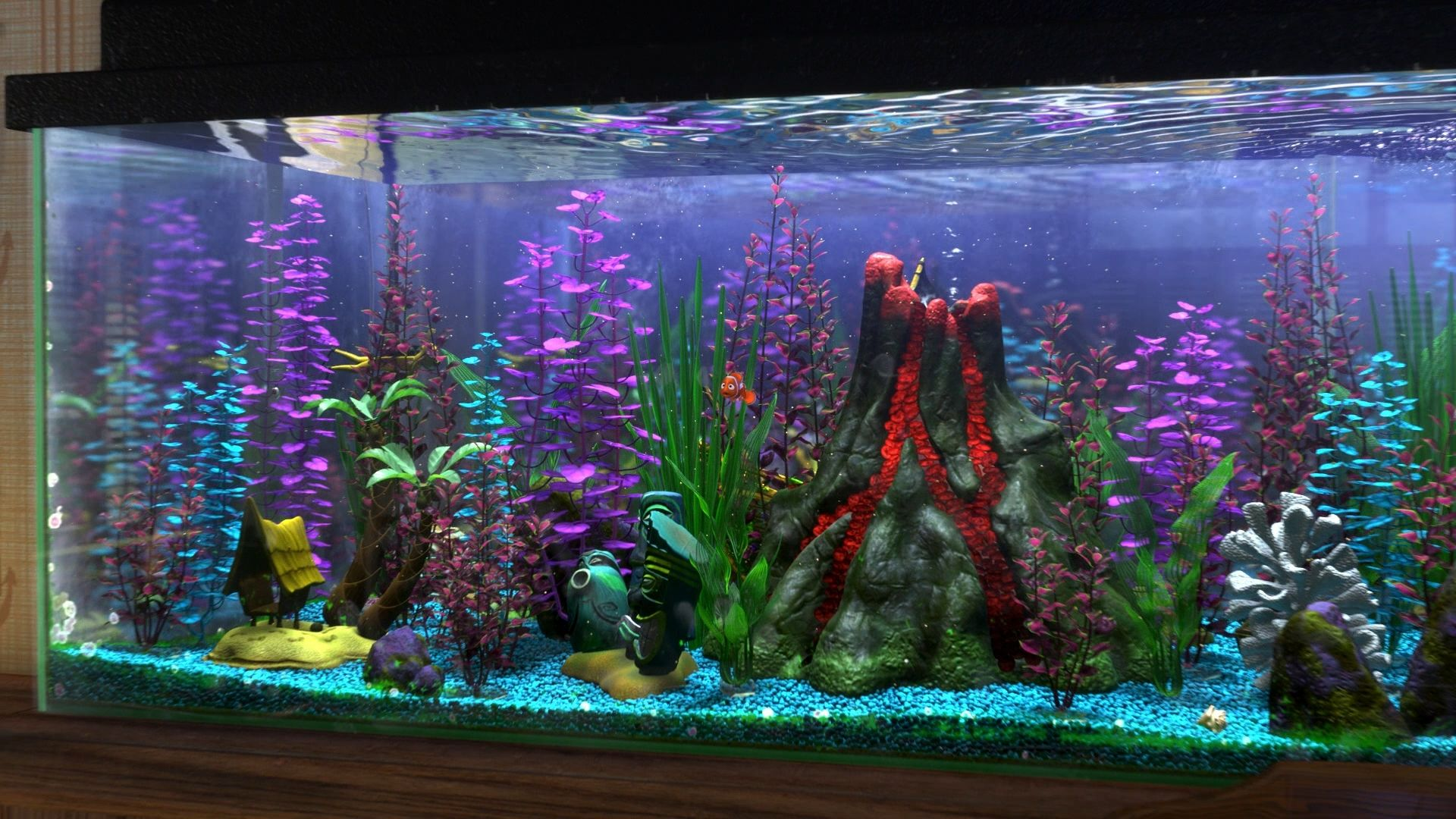 Fish in nemo aquarium - Finding Nemo Aquarium Hobby The Gnomon Workshop News