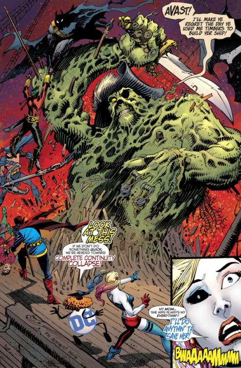 "4d94b34153ae Pirate Swamp Thing in Harley Quinn v3  50 ""Harley Quinn Destroys DC  Continuity (2018) - John Timms"