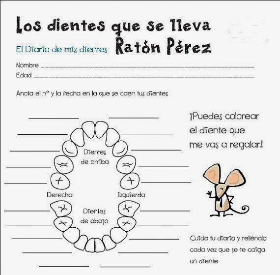 Ficha dientes que se lleva el Ratn Prez  Documentos escolares