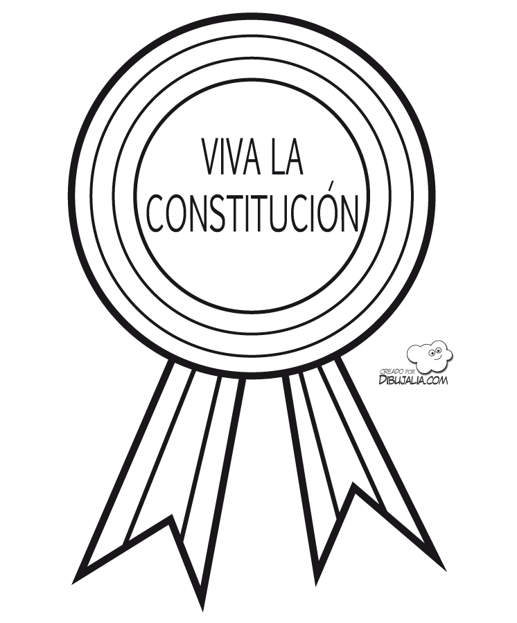 Medalla Viva La Constitucion Celebra Las Libertades Dia De La Constitucion Constitucion Medallas Para Colorear