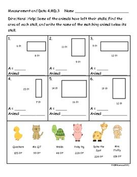 4th grade measurement worksheets activities and center cards 4 md 3 and 4 md 4 all about. Black Bedroom Furniture Sets. Home Design Ideas