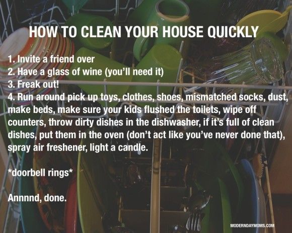 how to clean your house quicklysometimes i get more done in the
