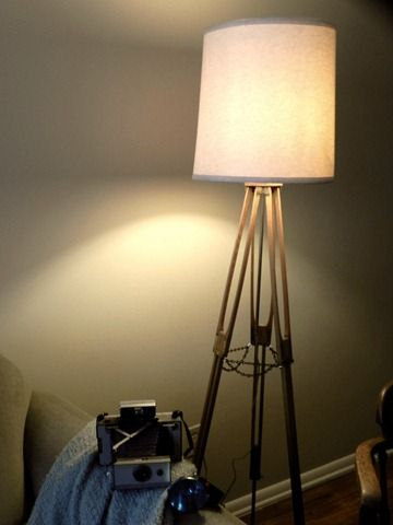 So You Think You Re Crafty 10 Weeks 10 Crafters 10 Themes You Decide Camera Tripod Floor Lamp Diy Floor Lamp Tripod Lamp