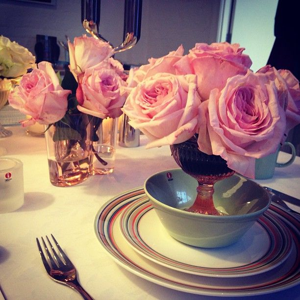 Iittala table setting from Vogue Living's Instagram.