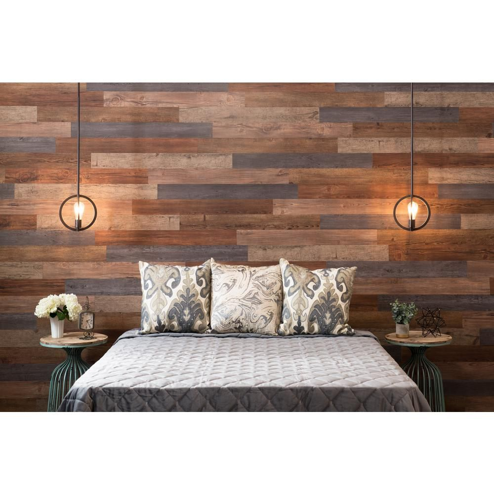 E-Z Wall Assorted 11 in. X 11 ft. Peel and Press Vinyl Plank Wall