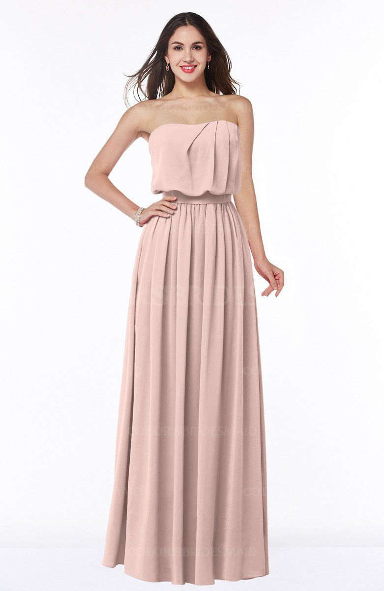 507e308f7a1 ... Sleeveless Zipper Ribbon Plus Size Bridesmaid Dresses at a discount  price. This A-line Bridesmaid Dresses features Floor Length