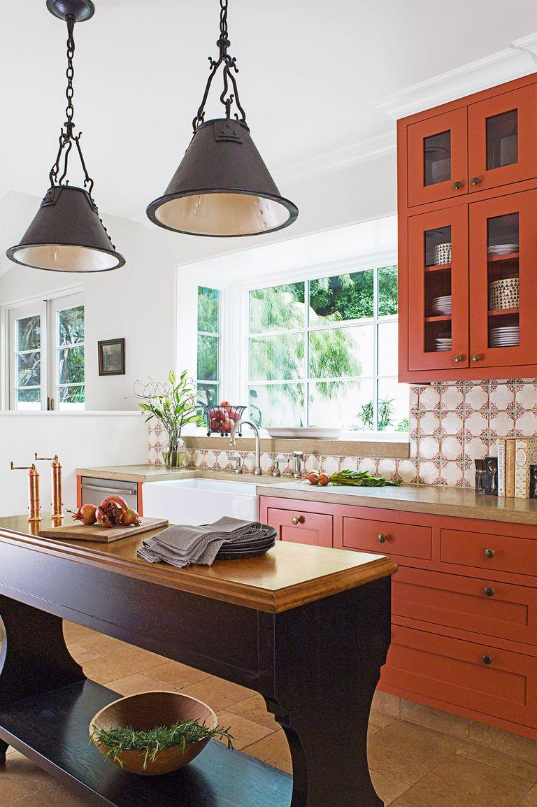 58 Kitchen Cabinet Ideas That Ll Elevate Your Kitchen In 2020 Burnt Orange Kitchen Popular Kitchen Designs Kitchen Design