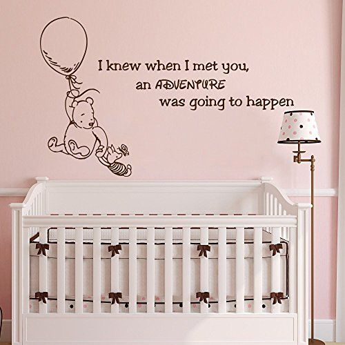 Winnie The Pooh Quote Wall Decal Vinyl Sticker Decals Quotes Adventure Decor Nursery Baby Room Art Kids Playroom X212 Click On