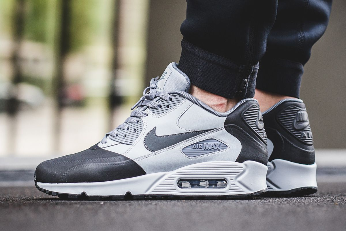 "meet b6612 6ea53 On-Foot  Nike Air Max 90 Premium SE ""Wolf Grey Anthracite"" - EU Kicks  Sneaker Magazine"