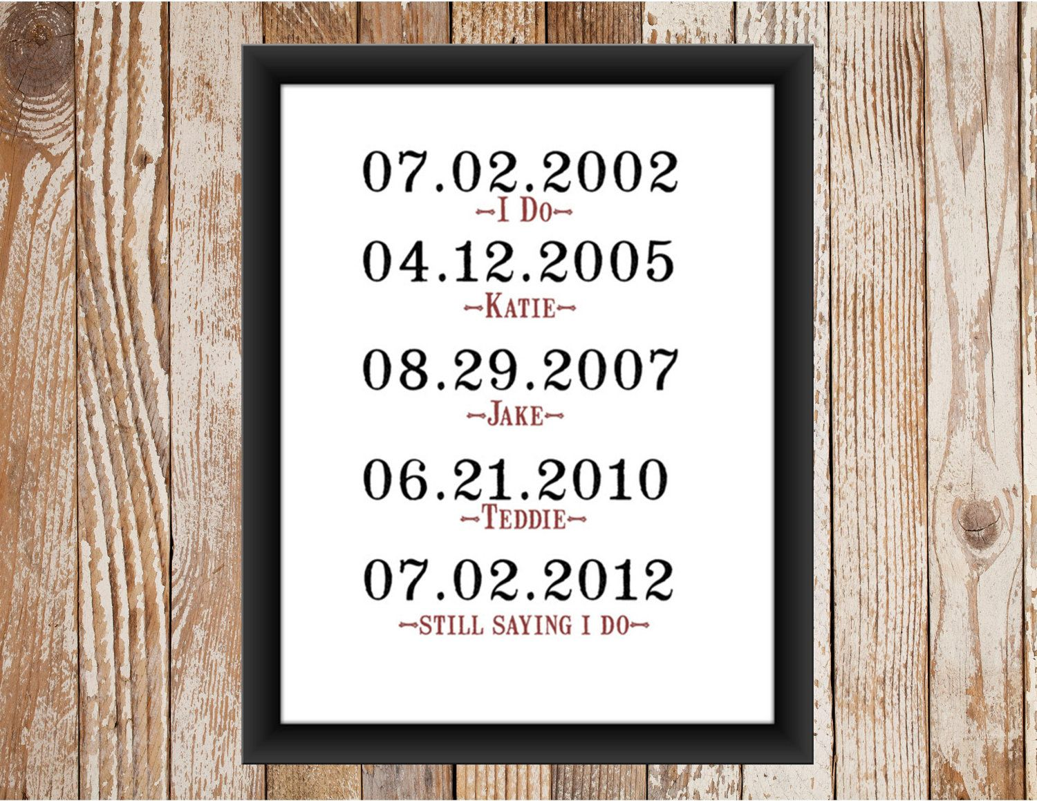 Wedding Renewal Gifts: What A Difference A Day Makes Vow Renewal Print. $12.00