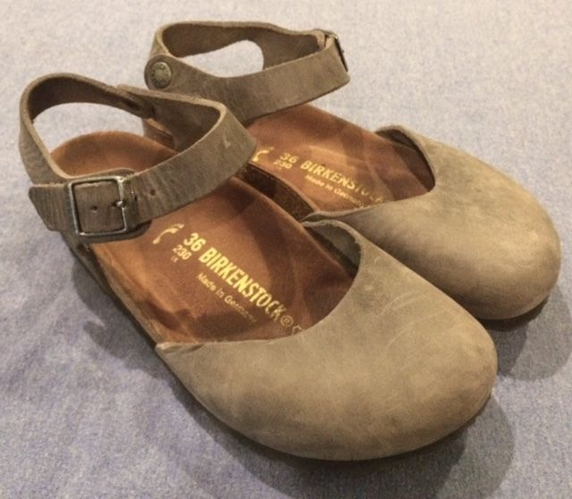 57564688d56a Birkenstock 36 N narrow grey Messina clogs mary jane iron gray leather  strap 36N in Clothes