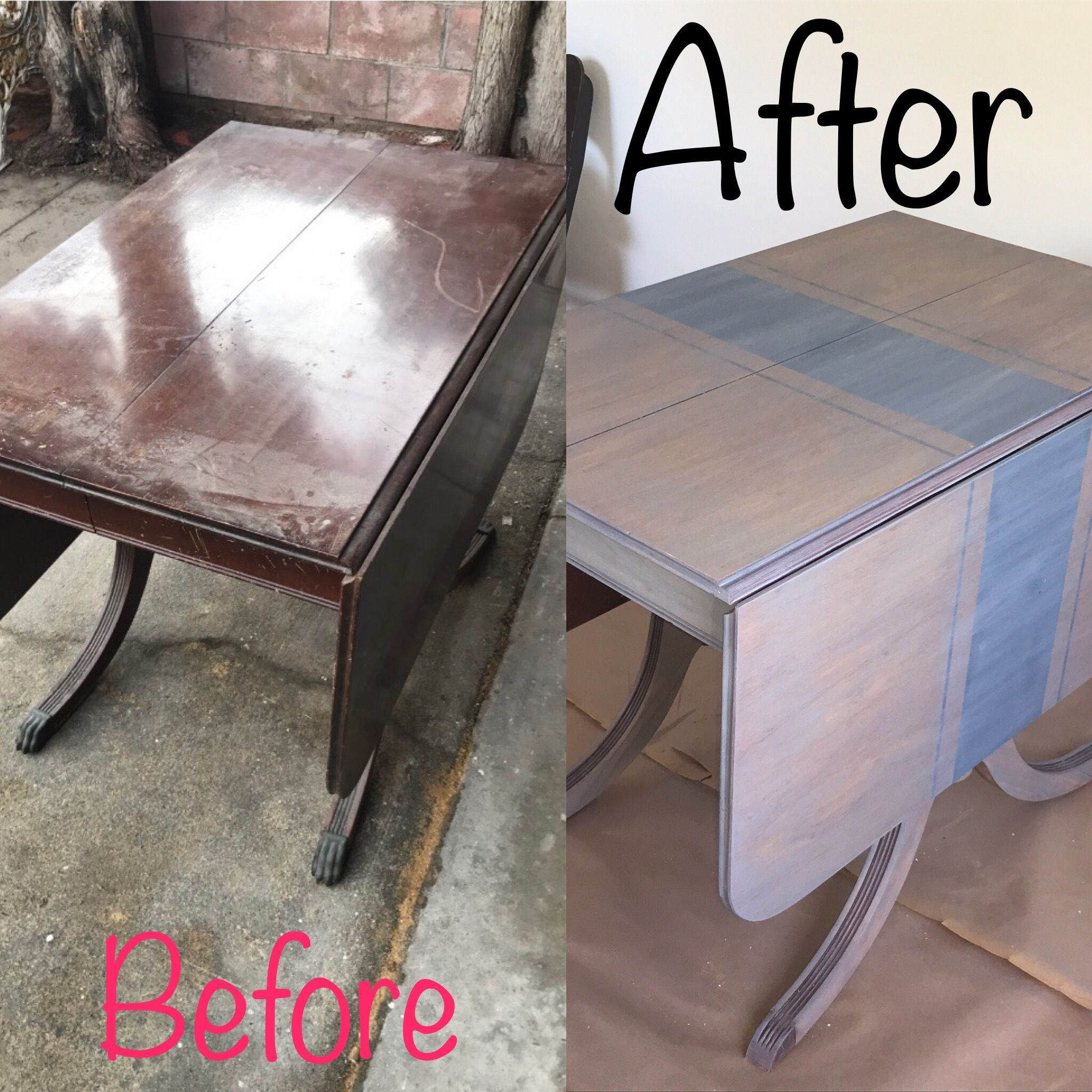 drop leaf table dining table makeover
