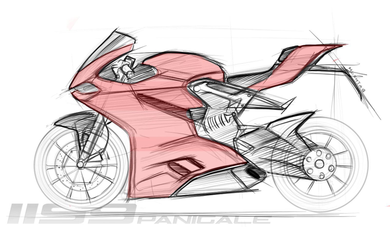 Pannigale Sketch Bike Sketch Bike Drawing Motorcycle Drawing