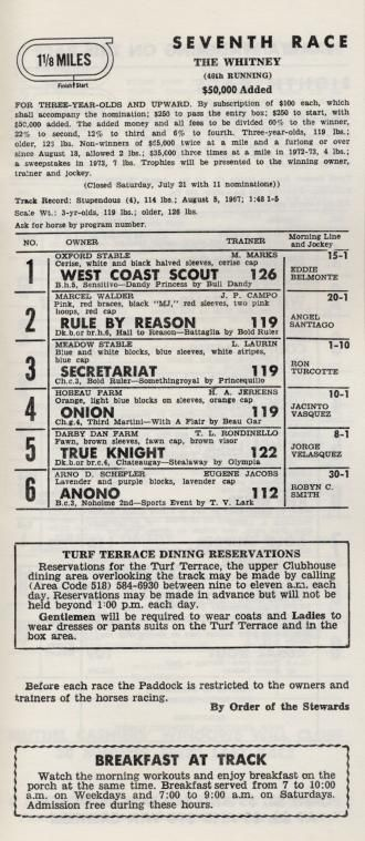 Jay Hovdey The Day Onion Slayed Secretariat Daily Racing Form