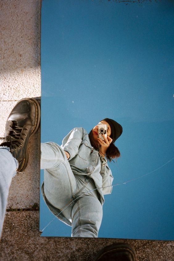 Selfies que vous pouvez prendre si vous sortez votre miroir sur la terrasse   – Çekilmek istediğim fotolar