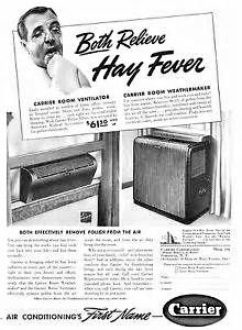 Vintage Carrier Ad Offering A Room Ventilator And Room
