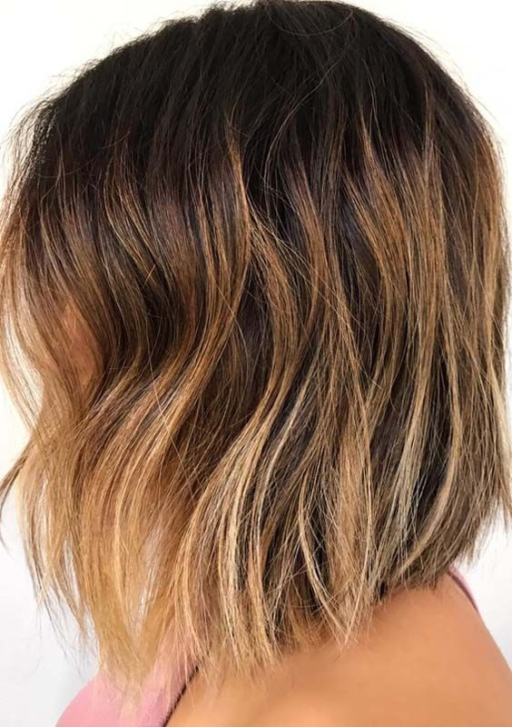 See here the flattering ideas of brunette balayage hair ... - photo #13
