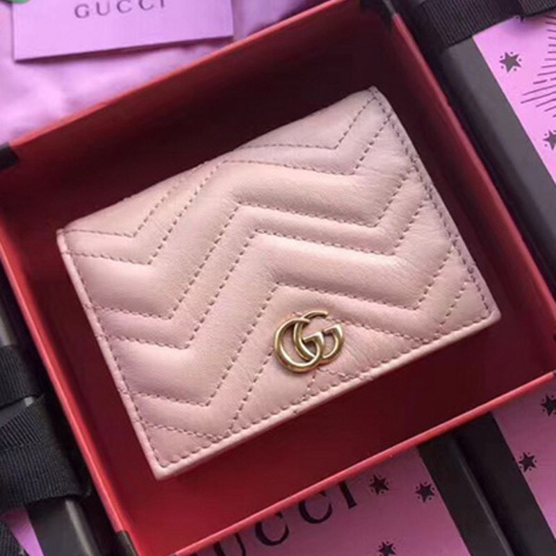 9e8bbb35e3bd6e Gucci Real Leatherl Card Case Wallet 466492 Pink | Gucci in 2019 ...