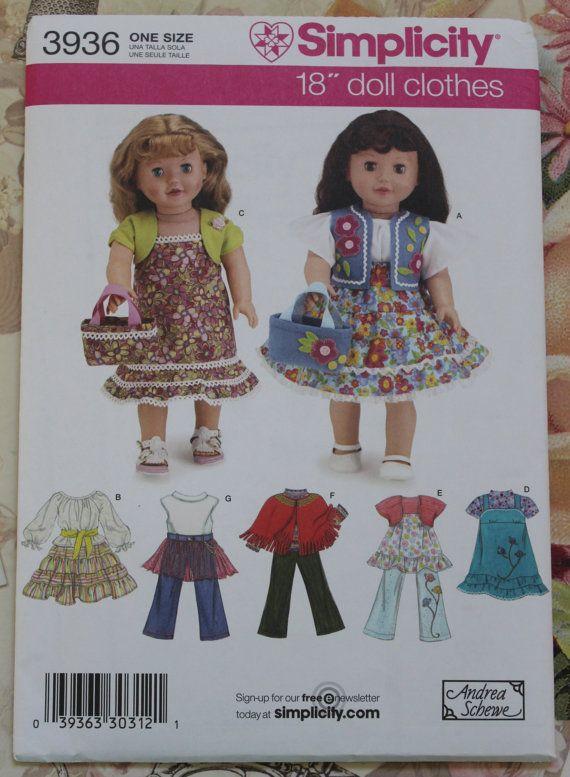 American Girl Doll Clothes Pattern Simplicity by Sariahsdollcloset ...