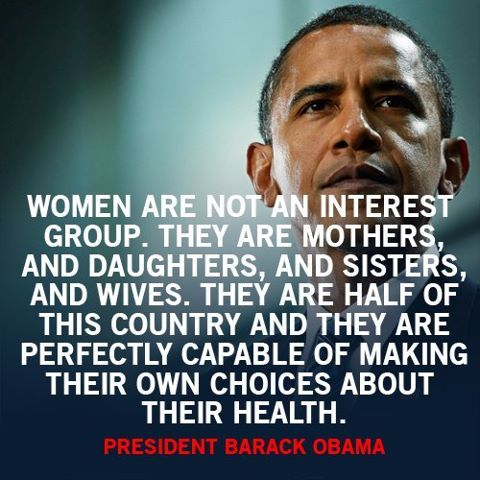 I really hate that he signed the NDAA, but in the face of the GOP's attitude toward women, what are we going to do?