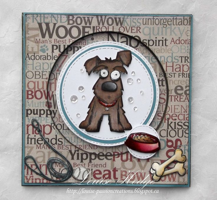 Superb Card Making Ideas Dogs Part - 14: Good Day November 1st Already, Time For Our New Challenge At Paradise Of  Stamps Our