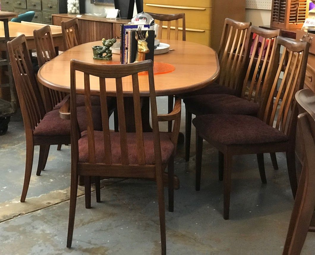 Dining Room Furniture Dallas Amazing Mid Century Modern Danish Teak Table And Eight Chairs On Sale G Decorating Design