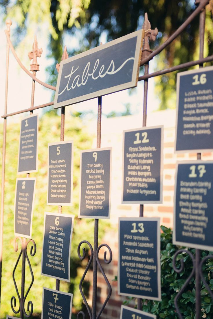 Gorgeous Wedding Escort Card Ideas to Lead the Way - Alante Photography via Style Me Pretty