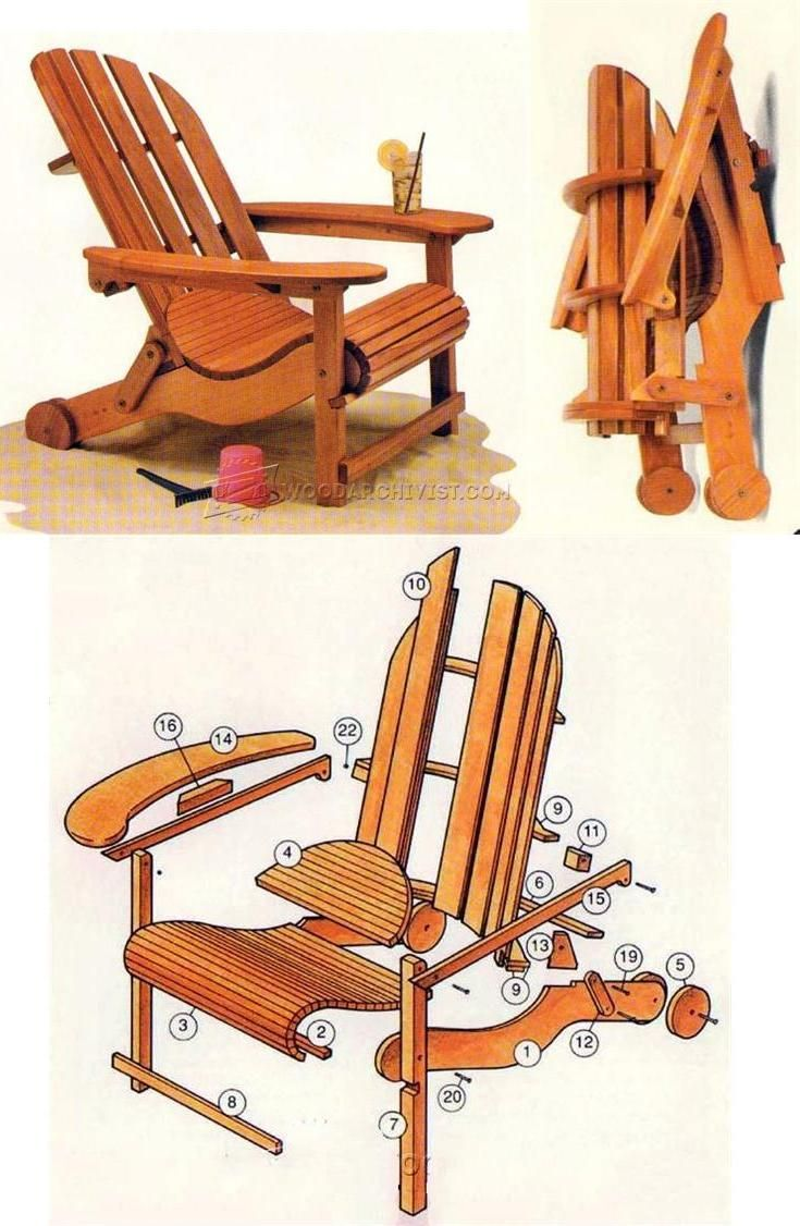 Folding adirondack chair plans outdoor furniture plans and
