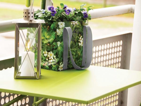 Mesa plegable para barandilla del balcón