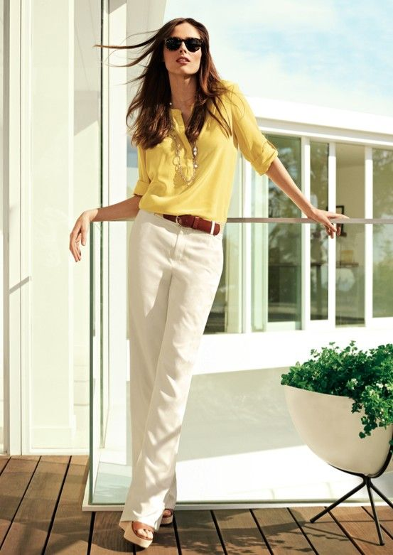 bac6d7e8d9b Button-down Blouse | For work or weekends, this silky blouse from ...