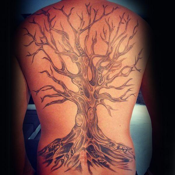 89ce965667b0d 40 Tree Back Tattoo Designs For Men - Wooden Ink Ideas | Tats ...