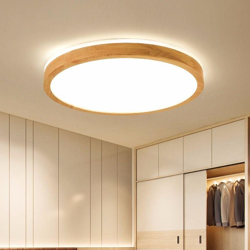 Led Decke Licht Holz Runde Platz Fur Wohnzimmer Schlafzimmer Innen Beleuchtung Leuchte Oberflache Mont Beleuchtung Decke Wohnzimmer Kronleuchter Deckenleuchten