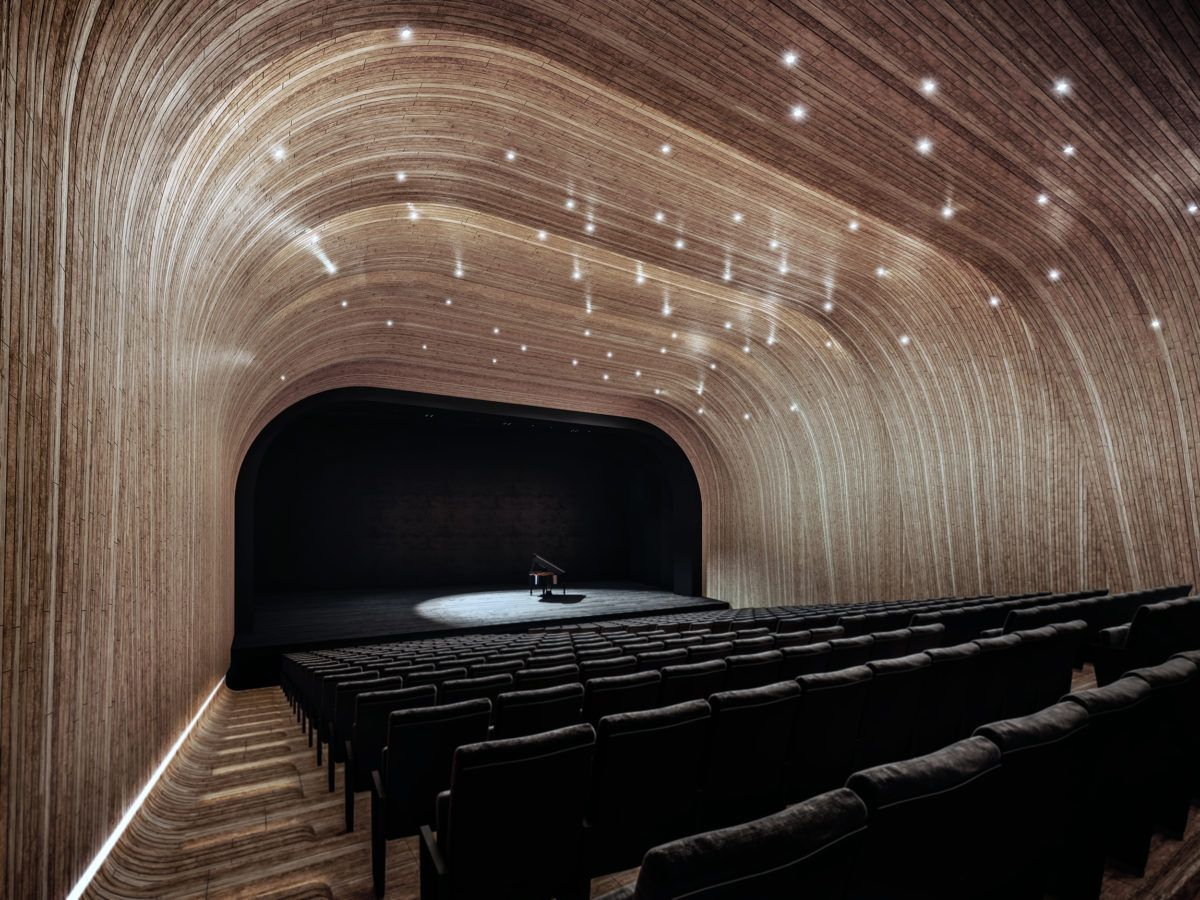 Folded Auditorium Auditorium Design Interior Architecture