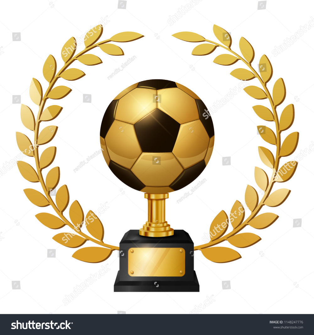 Realistic Gold Soccer Ball Trophy Gold Stock Vector Royalty Free 1148247776 Gold Stock Soccer Ball Trophy