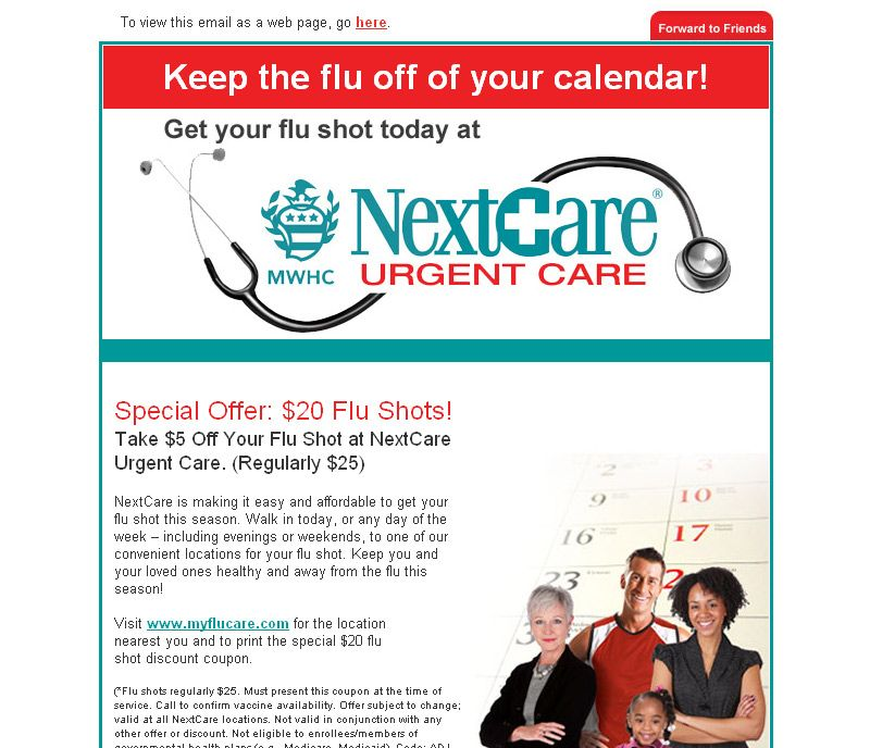 Next Care Urgent Care | Email Newsletter Design | Email