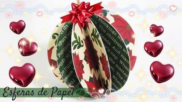 Adornos de navidad esferas de papel muy f ciles esferas for Adornos de navidad faciles