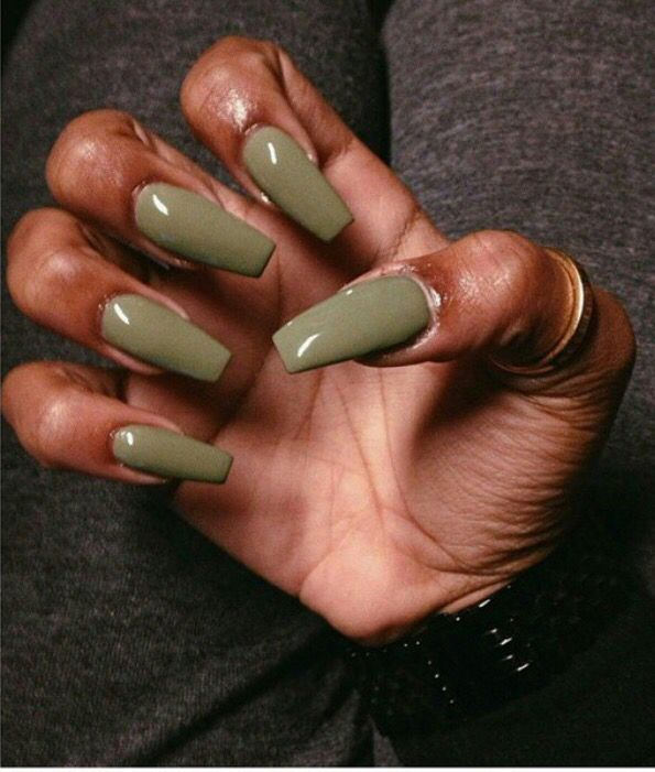 Pxmit Dark Skin Nail Color Polish Green Nails