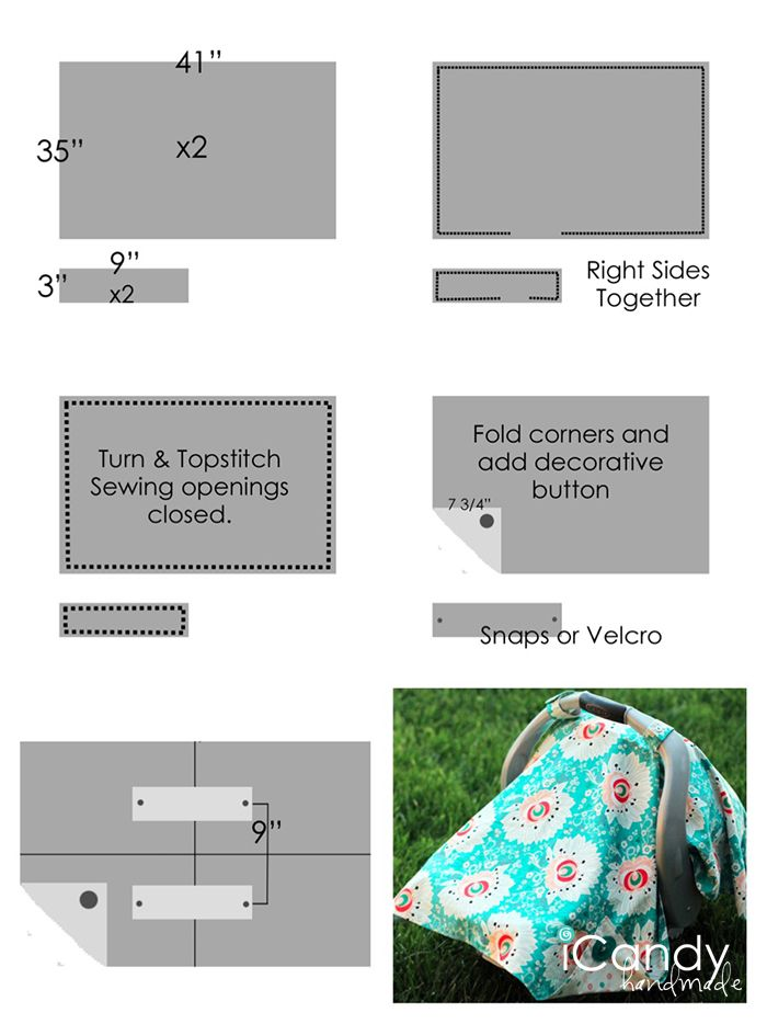 Baby Car Seat Winter Cover Pattern
