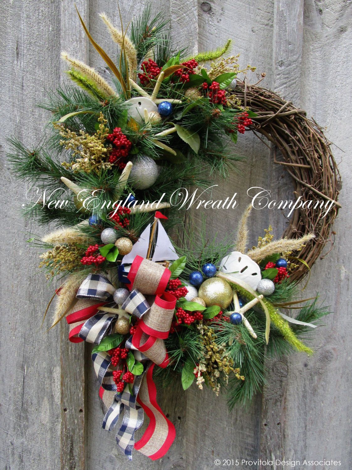 Nautical Christmas Wreath.Pin On New England Holiday