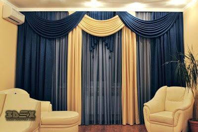 Modern Living Room Blue Curtains Designs Ideas Colors Styles For Hall 2018