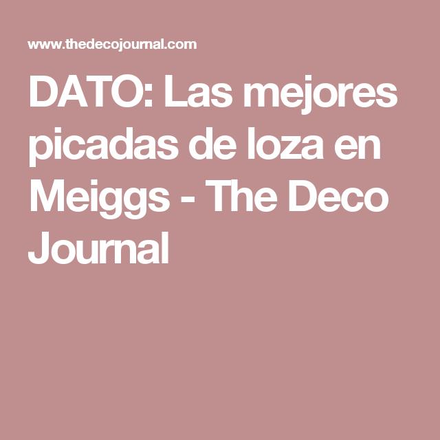 DATO: Las mejores picadas de loza en Meiggs - The Deco Journal